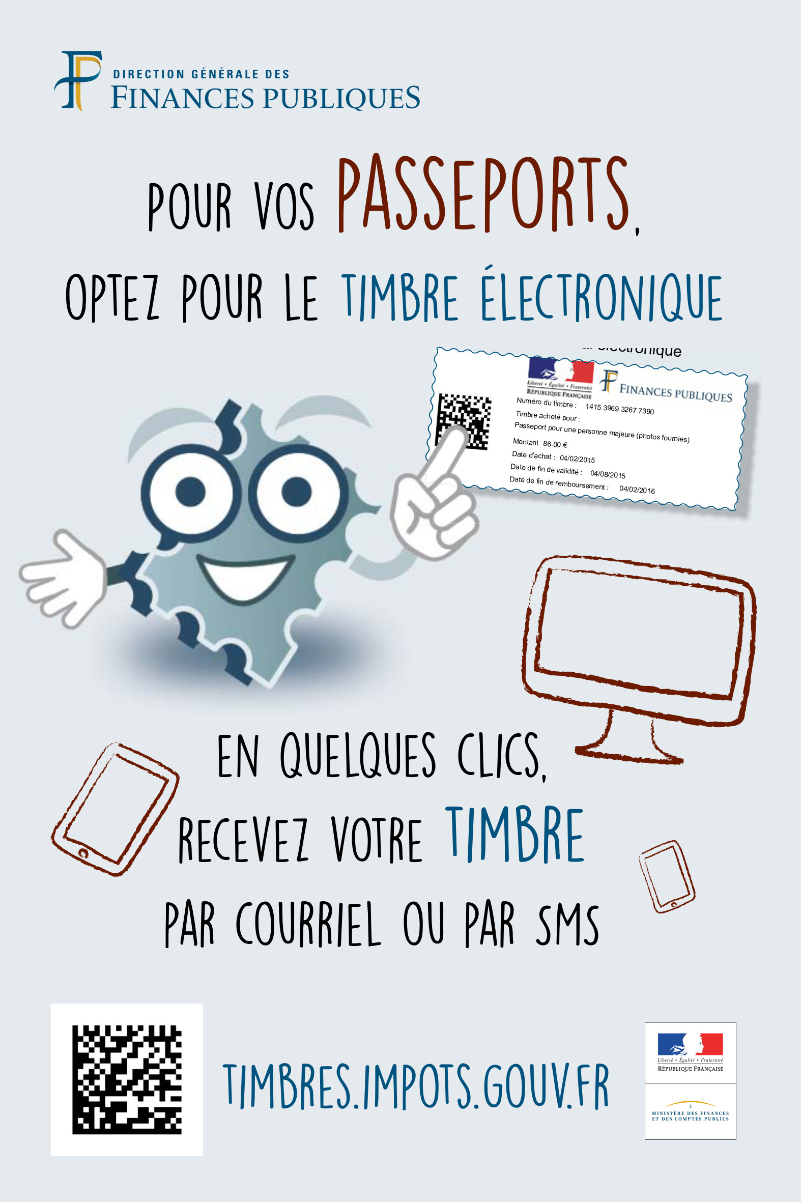 affiche timbres passeport
